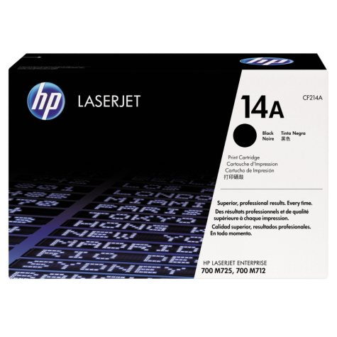 HP 14 Original Laser Jet Toner Cartridge, Black, Select Type