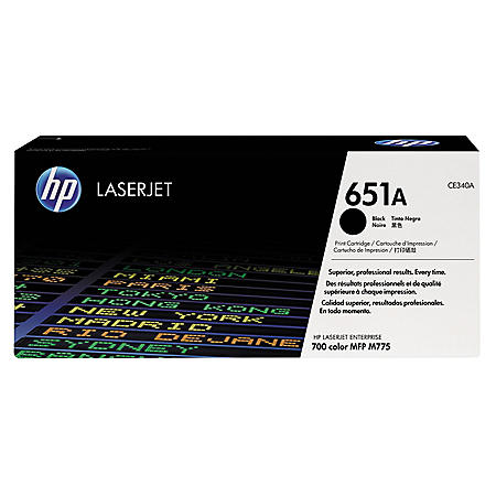 HP 651A Original Laser Jet Toner Cartridge, Select Color