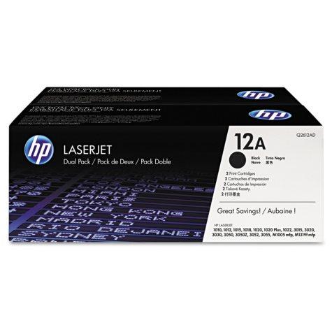 HP 12 Original Laser Jet Black Toner Cartridge, Select Type