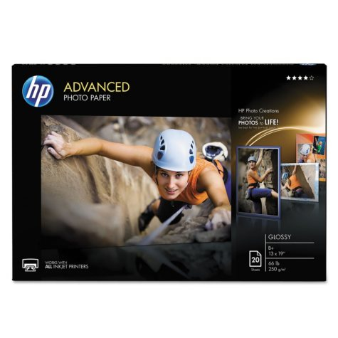 HP Advanced Photo Paper, Glossy, 13 x 19, 20 Sheets/Pack