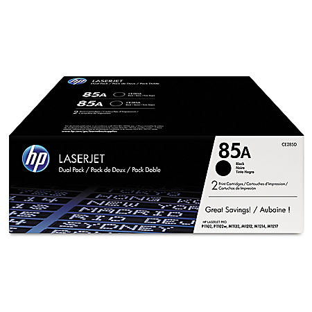 HP 85A Original Laser Jet Toner Cartridge, Black (1,600 Yield)