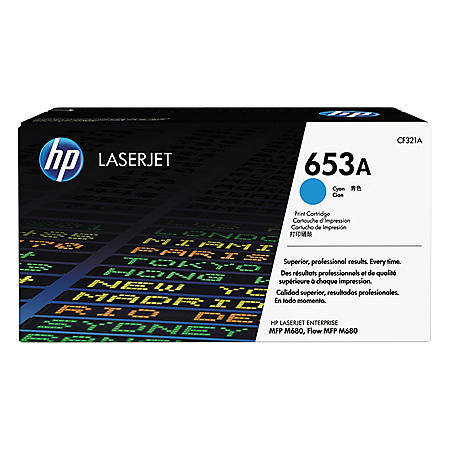 HP 653A Original Laser Jet Toner Cartridge, Cyan (16,500 Page High Yield)