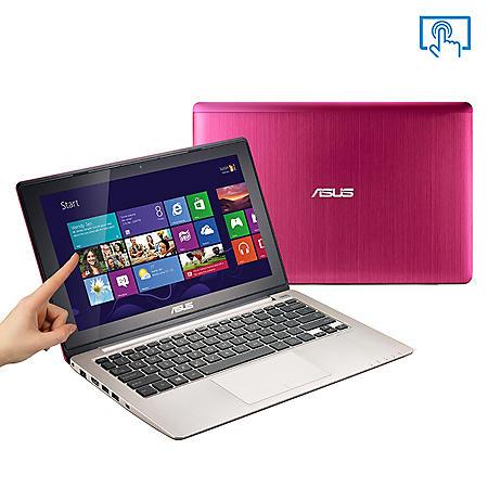 "ASUS X202-DH31T-PK 11.6"" Pink Touch Laptop Computer, Intel Core i3-3217U, 4GB Memory, 500GB Hard Drive"