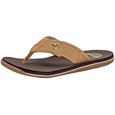Margaritaville Men's Flip Flops (Light Tan)
