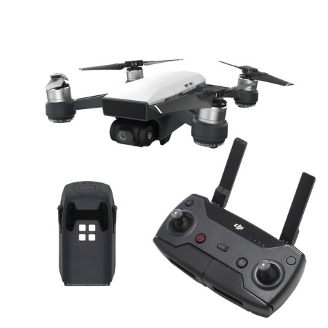 DJI Spark Drone with Remote and Extra Battery Bundle