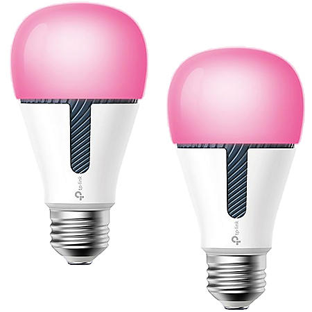 TP-LINK Kasa Smart Wi-Fi Multicolor LED Dimmable Light Bulb (2 pack)