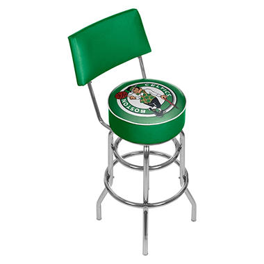 Boston Celtics NBA Padded Swivel Bar Stool with Back