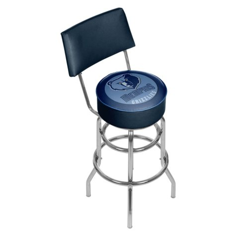 Memphis Grizzlies NBA Padded Swivel Bar Stool with Back
