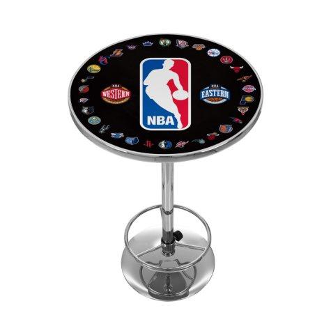 NBA Logo with All Teams Chrome Pub Table
