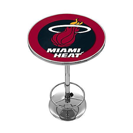 Miami Heat Nba Chrome Pub Table Sam S Club