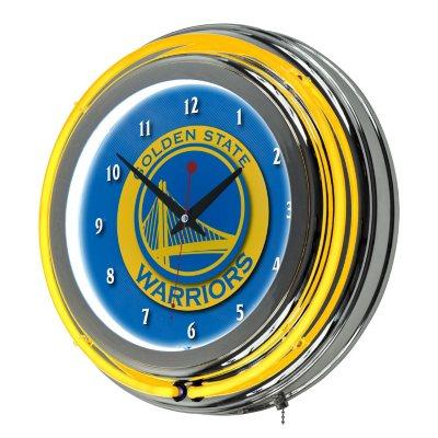 Golden State Warriors NBA Chrome Double Ring Neon Clock Sams Club