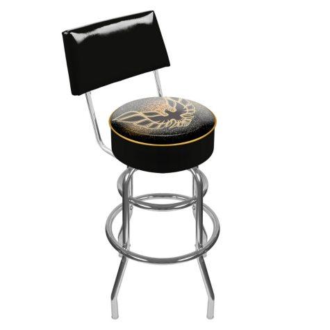 Pontiac Firebird Padded Swivel Bar Stool with Back (Assorted Colors)