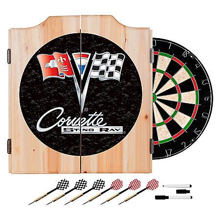 Corvette C2 Wood Dart Cabinet Set (Assorted Colors)