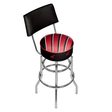 Honda Wing Padded Swivel Bar Stool with Back