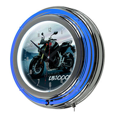Honda CB1000R Chrome Neon Clock