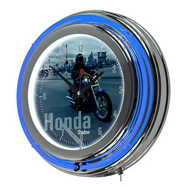 Honda Shadow Chrome Double Ring Neon Clock
