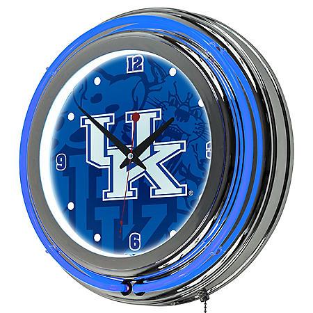 University of Kentucky Neon Wall-Mounted Clock (Assorted Styles)