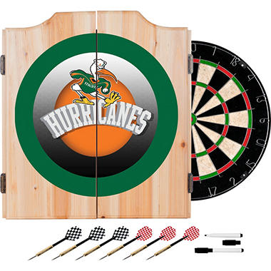 University of Miami Dart Cabinet Set (Assorted Styles)