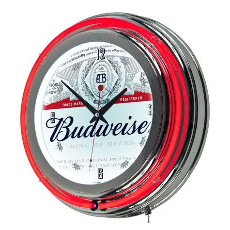 Budweiser Neon Wall Clock (Assorted Styles)