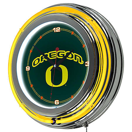 University of Oregon Wall-Mounted Neon Clock (Assorted Styles)