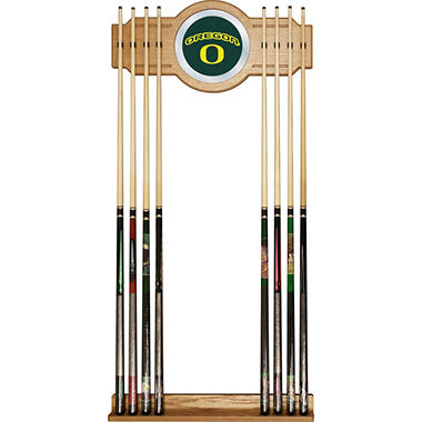 University of Oregon Billiard Cue Rack with Mirror (Assorted Styles)