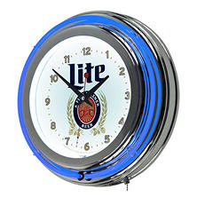 Miller Lite Neon Clock, Retro Design
