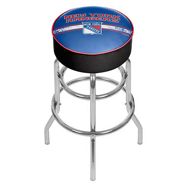 NHL Chrome Bar Stool with Swivel, New York Rangers