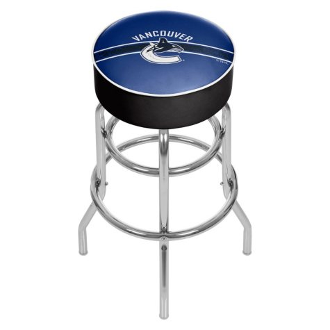 NHL Chrome Bar Stool with Swivel, Vancouver Canucks