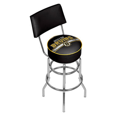 NHL Swivel Bar Stool with Back, Boston Bruins