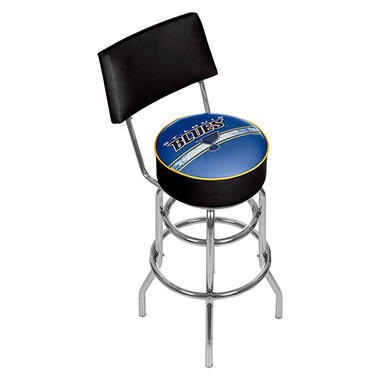 NHL Swivel Bar Stool with Back, St. Louis Blues