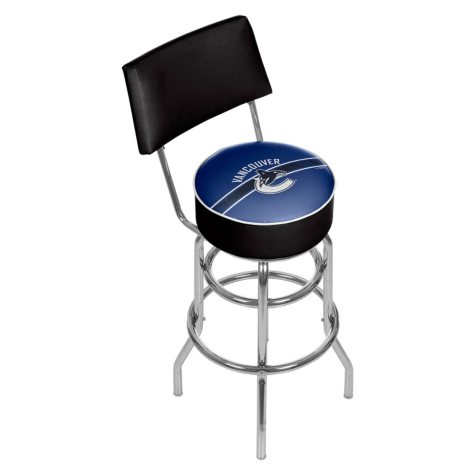 NHL Swivel Bar Stool with Back, Vancouver Canucks