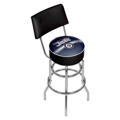 NHL Swivel Bar Stool with Back, Winnipeg Jets