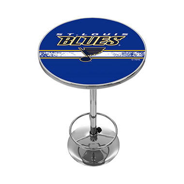 NHL Chrome Pub Table, St. Louis Blues
