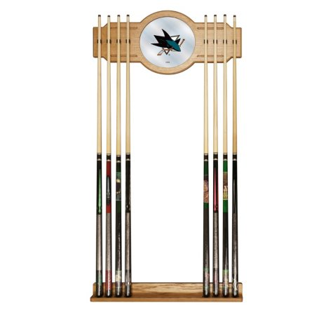 NHL Cue Rack with Mirror, San Jose Sharks