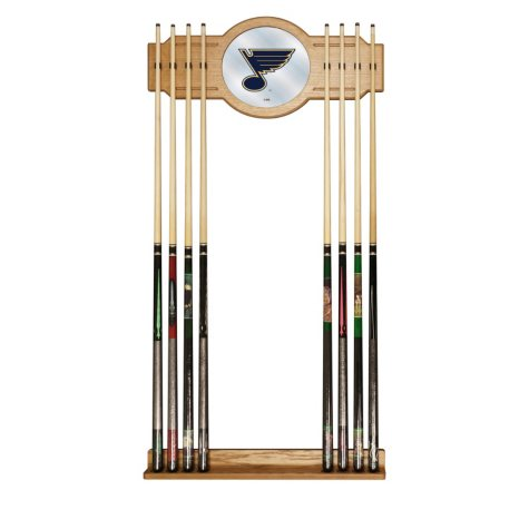 NHL Cue Rack with Mirror, St. Louis Blues