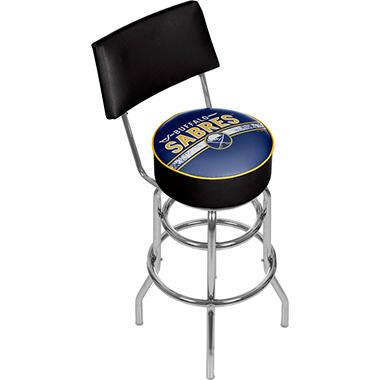 NHL Swivel Bar Stool with Back, Buffalo Sabres