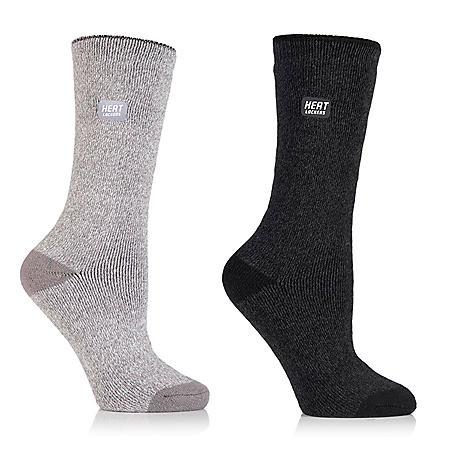 Heat Lockers® Ladies Everyday Crew Socks 2 Pair Pack