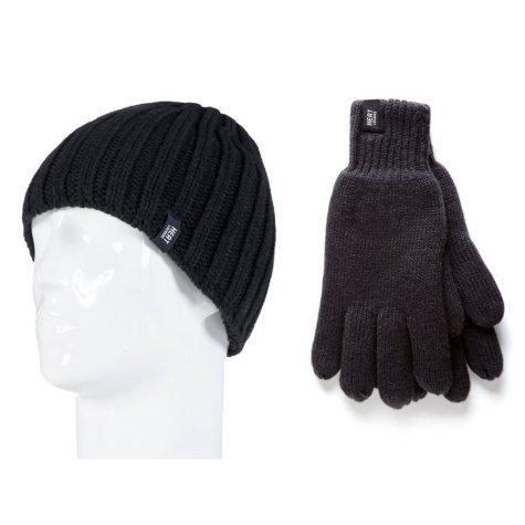 Heat Lockers® Men's Ribbed Knit Hat & Glove Set