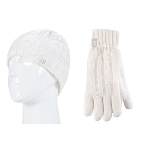 Heat Lockers® Ladies Cable Knit Hat & Glove Set