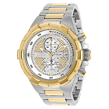 Invicta Men's Aviator 50.5mm Two Tone Stainless Steel Watch