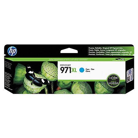 HP 971XL High Yield Original Ink Cartridge, Cyan (6,600 Yield)