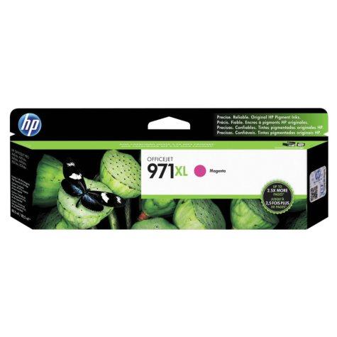 HP 971XL High Yield Original Ink Cartridge, Magenta (6,600 Yield)