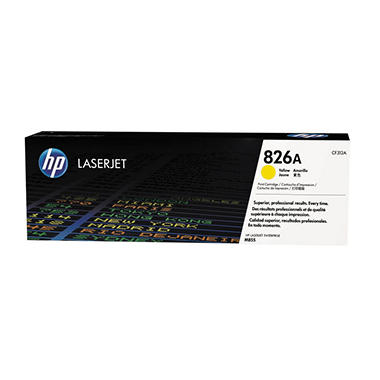 HP 826A Original Laser Jet Toner Cartridge, Yellow (31,500 Page Yield)