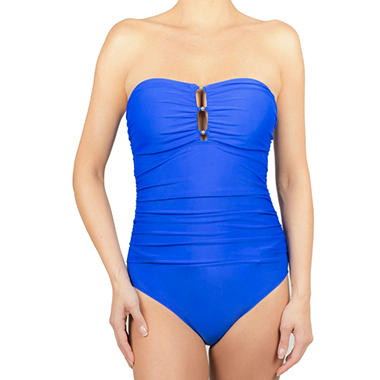 Simon Chang 1-Piece Halter Swimsuit (Available in Plus Size)