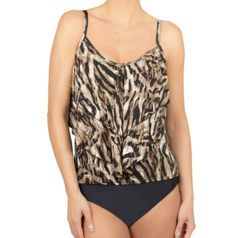 Simon Chang 3-Tier Tankini Top (Available in Assorted Colors)
