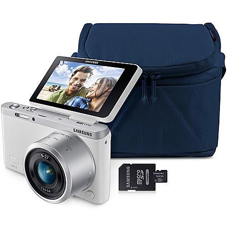 Samsung NX MINI 20 5MP Smart Wi-Fi Camera Bundle with 16GB