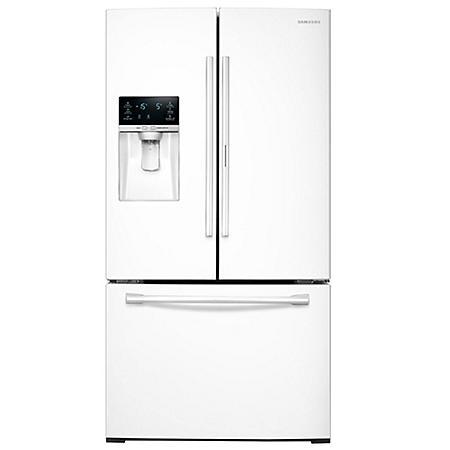 SAMSUNG 27.8 Cu. Ft. 3-Door French Door Food Showcase Refrigerator - RF28HDEDPWW