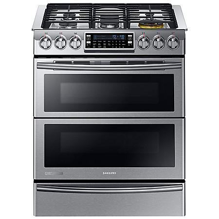 Samsung 5.8 cu. ft. Double Oven Range with Flex Duo