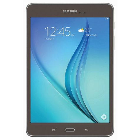 """SAMSUNG 8.0"""" Galaxy Tab A 16 GB Android 5.0 WiFi Tablet with Carrying Case - Smoky Titanium - SM-T350NZASXAR"""
