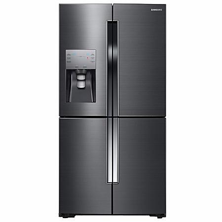 SAMSUNG 22.5 Cu. Ft. Counter-Depth 4-Door Flex Refrigerator with FlexZone, Black Stainless Steel - RF23J9011SG